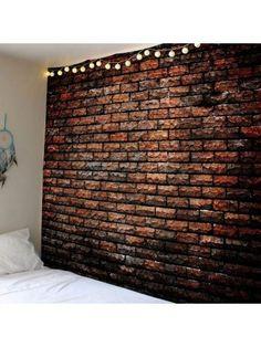 Natural Stone Brick Print Waterproof Wall Art Tapestry