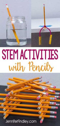 STEM activities using pencils are easy to prep and implement for back to school and end of the year stem challenges Check out three popular STEM and science activities us. Stem Science, Preschool Science, Elementary Science, Science Experiments Kids, Science For Kids, Teaching Science, Science Education, Physical Science, Elementary Education