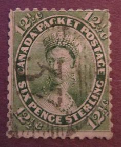 Canadian Postage Stamp, Queen Victoria, 1859