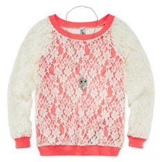 Knit Works Long-Sleeve Top, Tank and Necklace - Girls 7-16 and Plus  found at @JCPenney