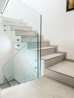 Porcelain stoneware #staircase cladding by DSG Ceramiche @dsgceramiche