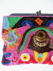 Beaded Evening Bag Groovy Evil Eye from IMPERIO jp on Taigan