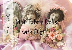 Vintage Mini Doll Pillows Tutorial with Exclusive DIGI's!!