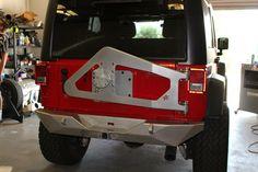 Crawler Conceptz body mounted tire carrier and rear bumper!!