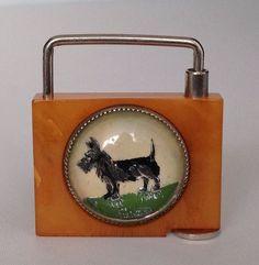 Vintage Bakelite Scottish Terrier Scotty Dog Key Chain