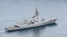 ESPS ALVARO DE BAZAN F101. Spanish Armada Aegis type frigate.