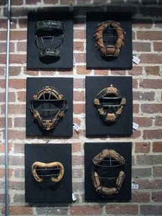 100 Man Cave Decor Ideas For Men - Masculine Decorating Designs Man Cave Decor Baseball Catcher Masks Wall Art Man Cave Wall Art, Man Cave Diy, Man Cave Home Bar, Man Cave Gifts, Man Cave Basement, Man Cave Garage, Basement Stair, Basement Office, Garage Bar