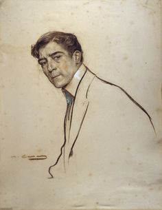Ramon Casas, 'Portrait of Alexandre de Riquer (1856-1920)', 1903/06.