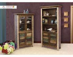 MODEL ITEM DIMENSIONS IFD966BKCSBookcase33-3/4 x 15-3/4 x 60-1/2 IFD967BKCSBookcase34-3/4 x 13-3/4 x 72-1/2  FEATURES 1. 100% Solid pine. 2. Multi-color distressed finish on hand brushed wood. 3. Featuring 2 glass doors and 2 wood doors with magnet catches. 4. Fixed shelf behind glass doors. 5. Custom hand forged Iron pulls with rust finish.