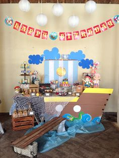 Jake y los piratas del nunca jamás!!! Mesa de dulces y decoración! Jake and the neverland pirates! ❤