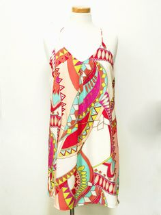 Abstract Summer Dress - Dusty Diamonds Boutique