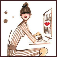 Illustration is by Izak Zenou for Henri Bendel.