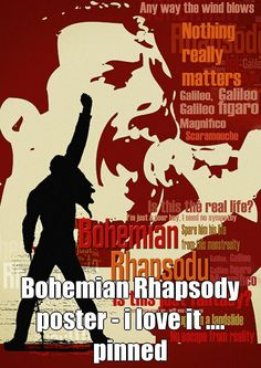 Bohemian Rhapsody poster - i love it .... pinned  https://www.etsy.com/listing/62750167/print-art-canvas-bohemian-rhapsody-queen?ref=shop_home_active