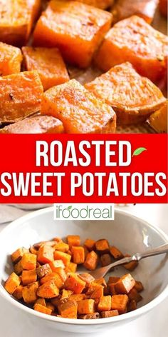 These easy Roasted Sweet Potatoes are made with simple spices, are soft on the inside and crispy on the outside. Roasted sweet potatoes are perfect as a side dish, in a wrap or in a salad during the fall and winter months. Healthy Family Meals, Healthy Meal Prep, Sweet Potato Recipes Healthy, Healthy Recipes, Healthy Tuna Salad, Vegetarian Wraps, Baked Chicken Breast, Meal Prep For The Week, Roasted Sweet Potatoes