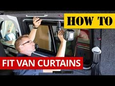 If our van specific curtain kits are are not appropriate for your van, then these universal curtains with straight rails may work better for you. They come in a short or longer version, so simply ... Diy Curtain Holdbacks, Diy Curtain Rods, Large Window Curtains, Sliding Door Curtains, How To Make Curtains, Diy Curtains, Country Curtains, Insulated Curtains, Thermal Curtains