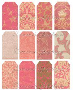 EDAD Pink Floral Elegante lamentables 18 ETIQUETAS De Recuerdos o Imprimibles etiqueta