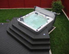 Most Beautiful Hot Tub Backyard Ideas To Improve Your Home Hot Tub Backyard, Hot Tub Garden, Backyard Pergola, Backyard Ideas, Pergola Ideas, Jacuzzi Outdoor, Outdoor Spa, Jacuzzi Tub, Mini Pool