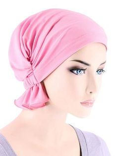 Turban Plus The Abbey Cap in Poly Knit Chemo Caps Cancer Hats for Women - Light Pink (Poly Blend) One Size Fits Most Scrub Hat Patterns, Pin Up Hair, Fancy Hats, Fascinator Hats, Knit Mittens, Pink Sequin, Scrub Hats, Headgear, Hats For Women