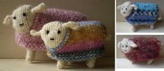 Sheep in Sheep's Clothing-This pattern is available as a free Ravelry download. A sheep that fits in the palm of your hand, complete with its own removable jumper. By using 4 ply instead of double knitting the same pattern can be used to make a lamb.  Note: the jumper pattern is meant to be asymmetrical. If the sheep's head is sewn on to the side of his body as mine is, the jumper needs to allow for this.