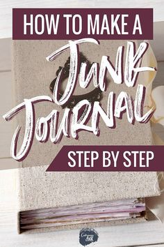 Ever wondered what the purpose of a junk journal is? This guide explains what a junk journal is and gives you several different ways to use your journal! Junk Journal, Junk Art, Handmade Journals, Handmade Books, Handmade Rugs, Handmade Notebook, Journal Covers, Journal Pages, Journal Ideas