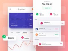 Exploration - Credit Card App by @saepulgranz | Found on @dribbble⠀ .⠀ .⠀ .⠀ .⠀ .⠀ .⠀ .⠀ #uxigers #ux #ui #uxdesign #uidesign #uitrends…