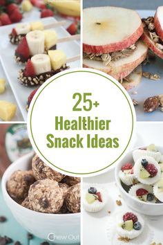 Are you looking for healthier snack choices? I have rounded up a collection of recipes that are a lot healthier than many of the snack choices out there