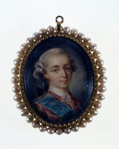 Miniature portrait of Louis XVI, likely done for the occasion of his marriage to…