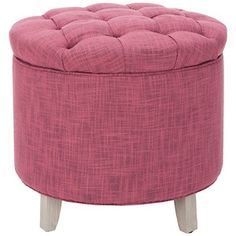 Safavieh Amelia Tufted Storage Ottoman in Rose at HSN.com