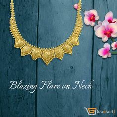 Manimala Swarna Gold Necklace of Globekart to glam up your neckline. Stay fashionable always. To buy it click http://bit.ly/2g04DtY . Get flat Rs1000 off on jewellery purchase. For more jewelleries with innovative designs, visit ➜ http://bit.ly/1oiMSWy  . Don't miss the opportunity.  #GoldNecklace #BlazingFlareOnNeck #GlamUp #Globekart #FlatRs1000Off #GoldJewellery #Diamond