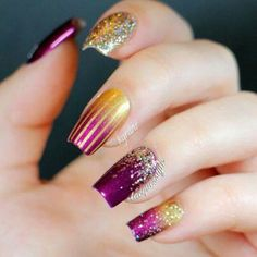 Festive New Years Nails See more at http://www.nailsss.com/colorful-nail-designs/2/