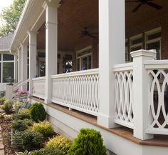 Nashville Porch porch railing Design Ideas, Pictures, Remodel and Decor. Would LOVE on the back deck Porch Railing Designs, Front Porch Railings, Front Porch Design, Deck Railings, Railing Ideas, Porch Designs, Porch Balusters, Outdoor Railings, Garden Railings