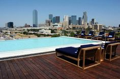 Rooftop view from the NYLO Dallas South Side hotel