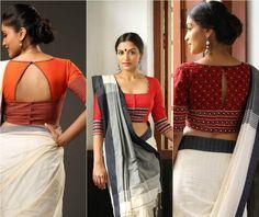 Image result for smart cotton saree blouse designs