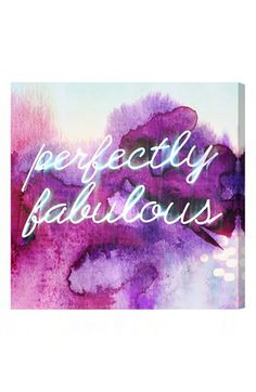 'perfectly fabulous' wall art http://rstyle.me/n/kzktvr9te