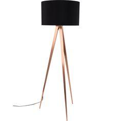 Tripod Copper Floor Lamp