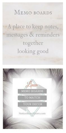 Memo Boards make a great gift A place to keep your photo's and pictures