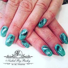 "42 Likes, 6 Comments - Becky Bunnell So Gel Educator (@nailedbybeckyb13) on Instagram: ""SO SIMPLE hard gel nails. Marbling with #gelish polish.  #sogelnails #sogeleducatorbeckybunnell…"""