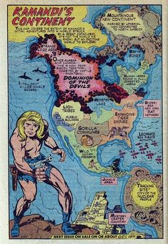 Comic Book Map from Kamandi : The Last Boy on Earth by Jack Kirby
