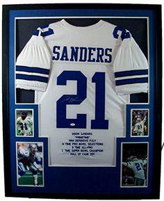 cbfaf112545 ... france deion sanders framed jersey signed jsa coa autographed dallas  cowboys florida state mister mancave http