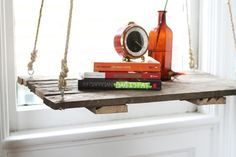 How To: Recycle a Pallet Into a Hanging Side Table   HelloNatural.co