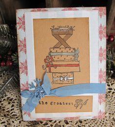 Christmas Card Handmade Card Primitive by KathleenRobinaugh, $4.00