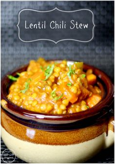 This Lentil Chili Stew is filled with delicious lentils, potatoes, carrots, and tons of other wonderful veggies. Spring may be in the air for most, but here in Maine our weather can get down to the 30's at night and during the day, although we did have a few days of 50-degree weather which was pure heaven!