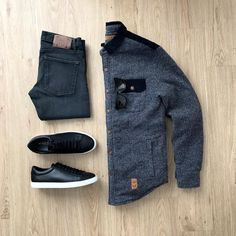Stylish Mens Outfits, Cool Outfits, Casual Outfits, Men Casual, Fashion Outfits, Big Men Fashion, Mens Fashion Suits, Fashion Fashion, Winter Fashion