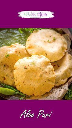 Puri Recipes, Paratha Recipes, Spicy Recipes, Cooking Recipes, Snacks Recipes, Chaat Recipe, Aloo Poori Recipe, Cake Paris, Dessert Mousse