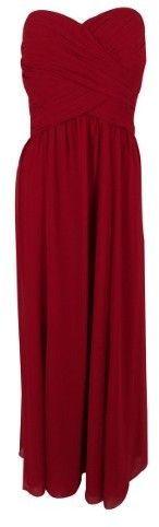 Lauren Ralph Lauren Women's Strapless Gown (12, Flamenco Rose)