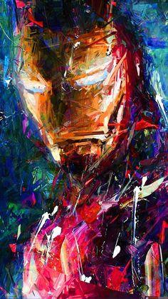 Iron Man By Ditosugito at Deviant Art Iron Man Avengers, Avengers Art, Marvel Art, Marvel Heroes, Marvel Characters, Marshmello Wallpapers, Tableau Pop Art, Arte Nerd, Iron Man Art
