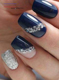 Most beautiful winter nail art designs 28 Classy Nail Designs, Simple Nail Art Designs, Winter Nail Designs, Classy Acrylic Nails, Classy Nails, Trendy Nails, Subtle Nail Art, Cool Nail Art, Winter Nail Art