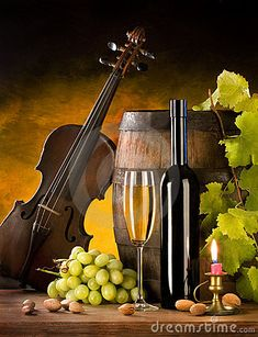 Still Life With Wine And Violin - Download From Over 39 Million High Quality Stock Photos, Images, Vectors. Sign up for FREE today. Image: 11736397