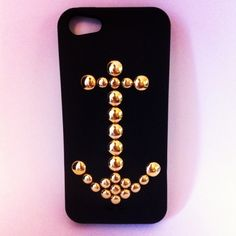 b02e48a05921 iPHONE 5 Grace s Anchor Studded iPhone Case by iPhoneGlam on Etsy
