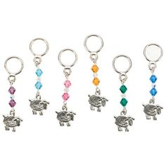 Sheep Stitch Markers -Six Assorted Styles